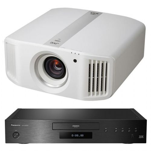 JVC DLA-N5 4K D-ILA Projector - White + Panasonic DP-UB9000 UHD Blu-Ray Player